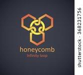 honeycomb logo design concept.... | Shutterstock .eps vector #368231756