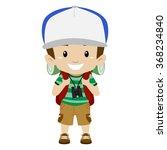 vector illustration of a boy in ... | Shutterstock .eps vector #368234840