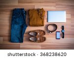 clothes and accessories set of... | Shutterstock . vector #368238620