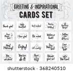 greeting and inspirational... | Shutterstock .eps vector #368240510