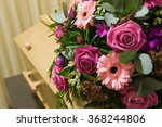 a coffin with a flower... | Shutterstock . vector #368244806
