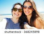funny female friends on... | Shutterstock . vector #368245898