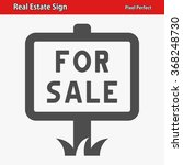 real estate sign icon.... | Shutterstock .eps vector #368248730