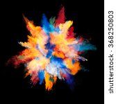 explosion of colored powder on... | Shutterstock . vector #368250803