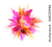 explosion of colored powder on... | Shutterstock . vector #368250986