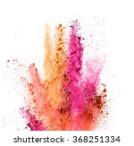explosion of colored powder on... | Shutterstock . vector #368251334
