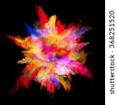 explosion of colored powder on... | Shutterstock . vector #368251520