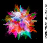 explosion of colored powder on... | Shutterstock . vector #368251940