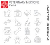 Stock vector web icons set veterinary medicine 368252984