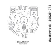 electricity and energy round... | Shutterstock .eps vector #368254778