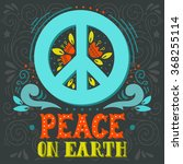 peace sign with hand lettering  ... | Shutterstock .eps vector #368255114
