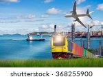 rail freight  containers ...   Shutterstock . vector #368255900