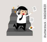young businessman 20 30s has an ... | Shutterstock .eps vector #368260820