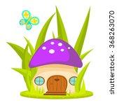 mushroom house cartoon vector... | Shutterstock .eps vector #368263070