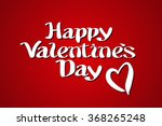 happy valentines day... | Shutterstock .eps vector #368265248