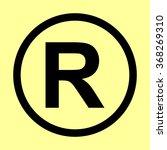 registered trademark sign. flat ... | Shutterstock .eps vector #368269310