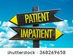 patient   impatient signpost in ... | Shutterstock . vector #368269658