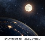 Earth  Moon And Star. Elements...