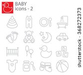 web icons set   baby toys ... | Shutterstock .eps vector #368272373