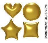 gold foil balloon set with... | Shutterstock . vector #368272898