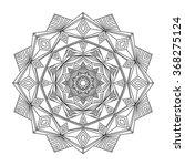 beautiful vector ornament round ... | Shutterstock .eps vector #368275124