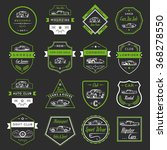 vector set of vintage  symbols... | Shutterstock .eps vector #368278550