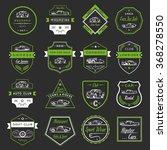 vector set of vintage  symbols... | Shutterstock .eps vector #368278550