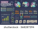 business infographics set with... | Shutterstock .eps vector #368287394