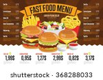 fast food menu design and fast... | Shutterstock .eps vector #368288033