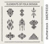 elements of folk design. tribal ... | Shutterstock .eps vector #368293310