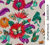 seamless floral pattern with... | Shutterstock .eps vector #368300219