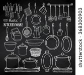 hand drawn vector set of ... | Shutterstock .eps vector #368300903