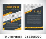 abstract vector modern flyers... | Shutterstock .eps vector #368305010