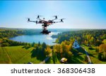 drone with professional cinema... | Shutterstock . vector #368306438