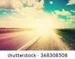 Road Field Landscape Blue Sky...