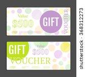 gift voucher template. can be... | Shutterstock .eps vector #368312273