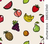 seamless pattern of icons with... | Shutterstock .eps vector #368313560