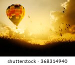 Hot Air Balloon Flying With...