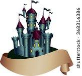 dark spooky castle with paper... | Shutterstock .eps vector #368316386