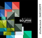glossy color squares on black.... | Shutterstock .eps vector #368318099