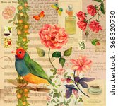a vintage style collage... | Shutterstock . vector #368320730