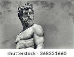 Vintage Image Of Neptune  God...