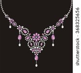 necklace female embroidery with ... | Shutterstock .eps vector #368325656