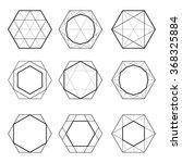 sacred geometry. hexagons.... | Shutterstock .eps vector #368325884