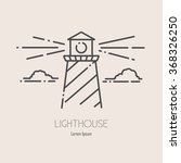 minimalistic outline logotype...   Shutterstock .eps vector #368326250