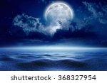 winter night sky with full moon ... | Shutterstock . vector #368327954