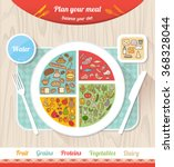 plan your meal infographic with ... | Shutterstock .eps vector #368328044