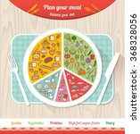 plan your meal infographic with ... | Shutterstock .eps vector #368328056