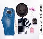 female photographer stuff on...   Shutterstock . vector #368334080
