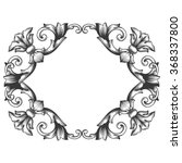 vintage baroque frame scroll... | Shutterstock . vector #368337800
